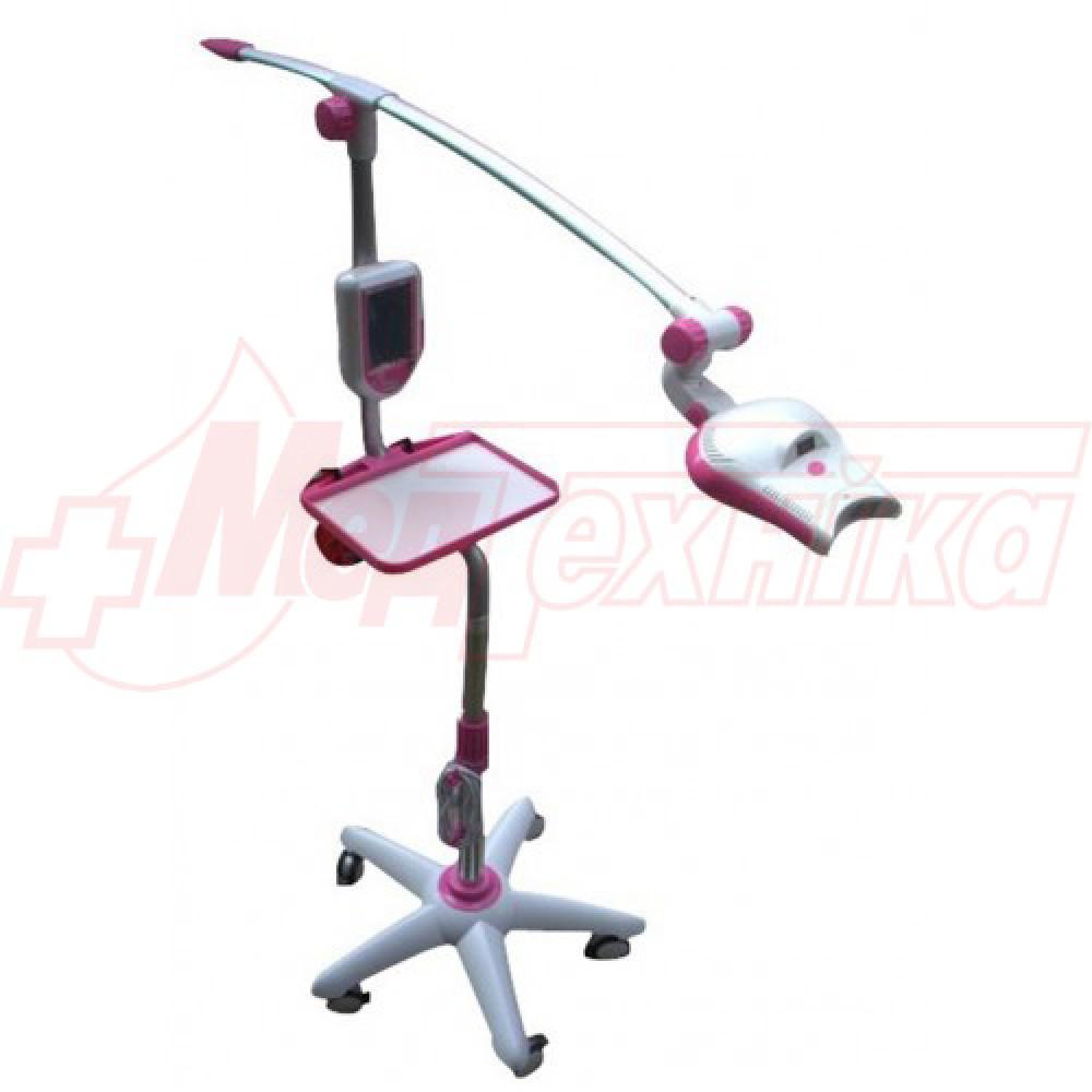 Лампа для отбеливания зубов MD885L (Magenta) на мобильном штативе, дополнительный лоток