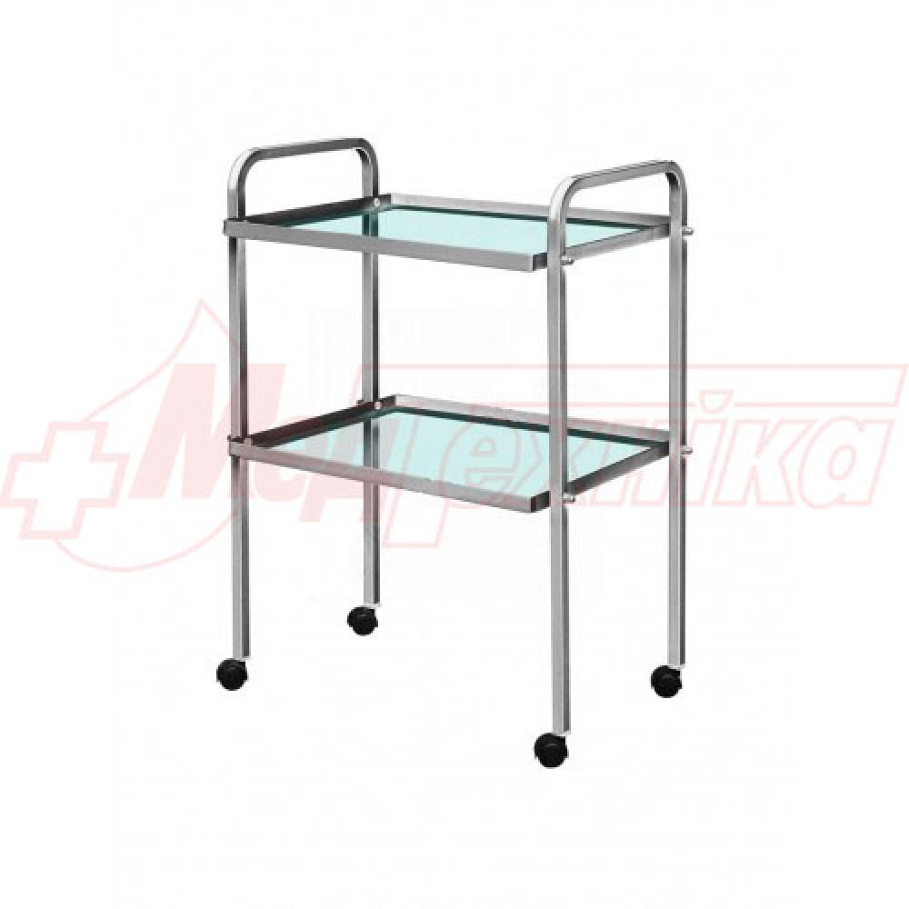 Стол медицинский инструментальный СИ (стеклянные полки)