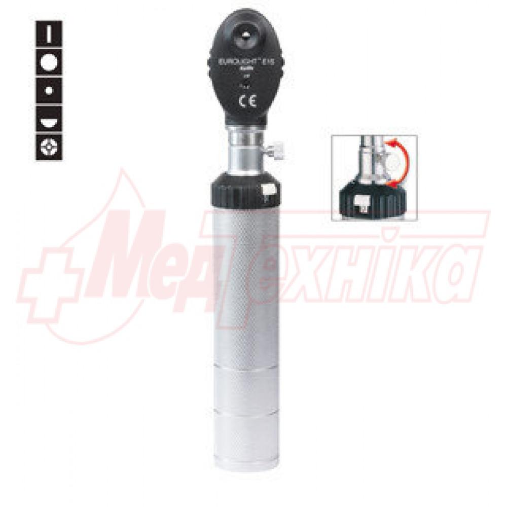 Офтальмоскоп EUROLIGHT E15, 2.5 В  с винтовым креплением